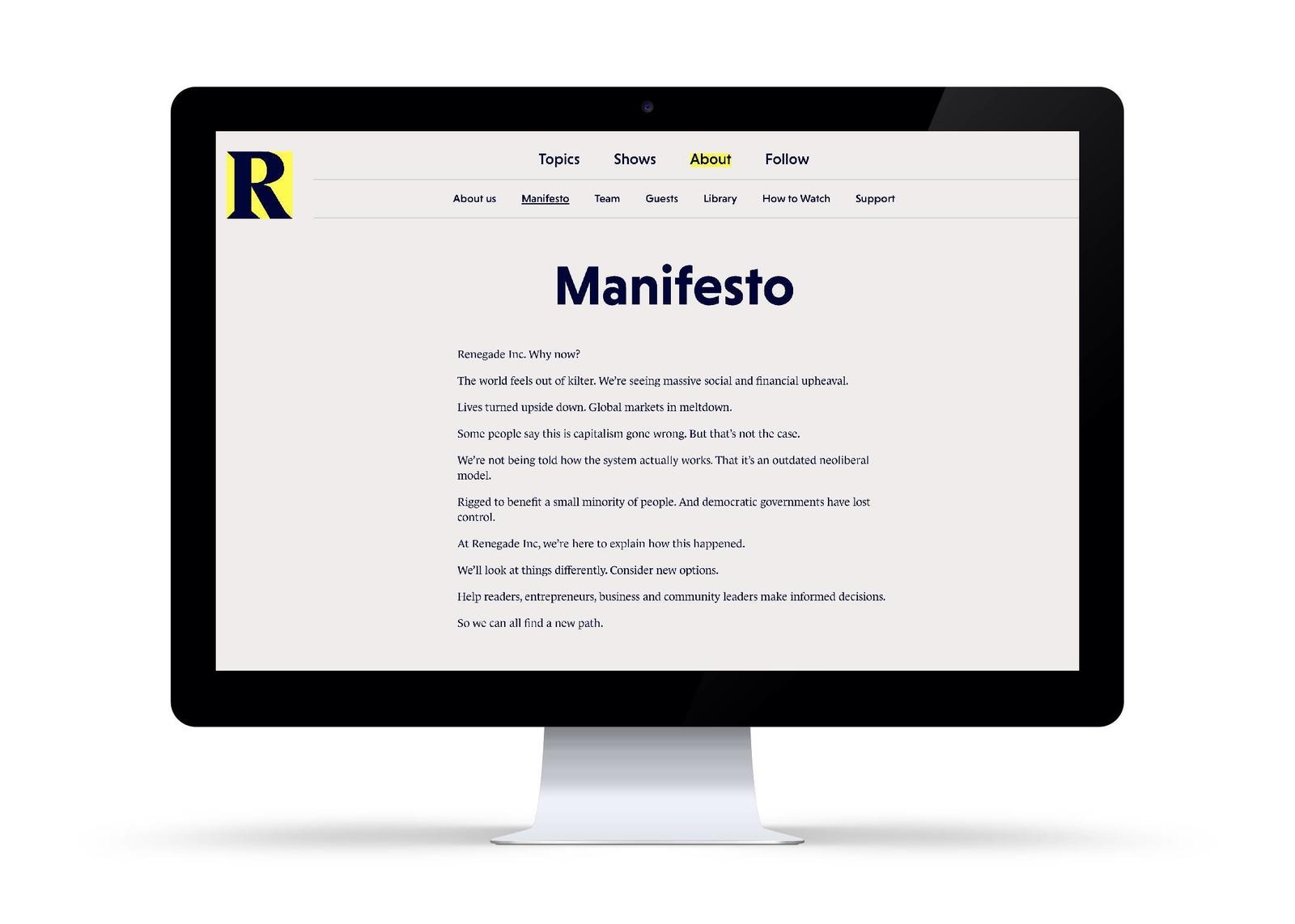 Renegade manifesto