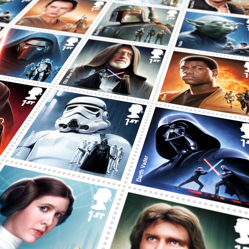 ROYALMAIL starwars stamps